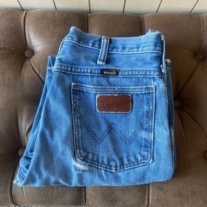 Well Worn Vintage Wrangler Denim Jeans Unisex